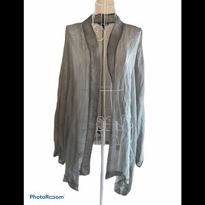 Eileen Fisher Women 100% Silk Sheer Cardigan 3x